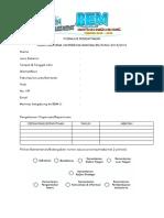 Formulir Pendaftaran Rekrutmen Bem-u