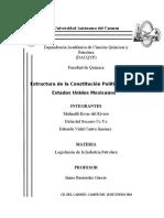 Estructura de La Constitución Politica E.U.M
