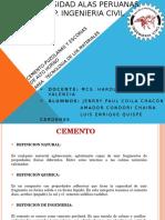 cemento tipos y agregados