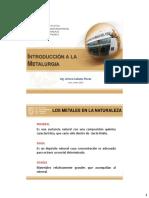 Metalurgia IIMP Introduccion a La Metalurgia