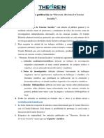 """Normas de publicación de """"Theorein. Revista de Ciencias Sociales"""""""