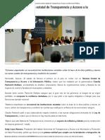 08-06-16 Instala Sonora sistema estatal de Transparencia y Acceso a la Información Pública. -SDPNoticias