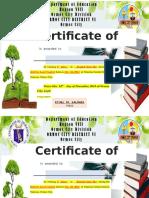 Certificates English