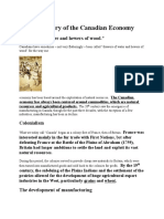 civicsa brief history of the canadian economy