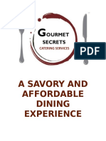 Gourmet Secrets Catering Services Official Menu 2016 Ed