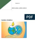 Cambio Climático Quimica