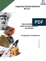 Solucionario Guía Conjuntos Numéricos 2014