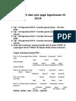 Daftar piket dan pos jaga Agustusan th 2014.docx