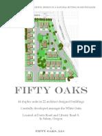 """""""Fifty Oaks"""" Brochure"""