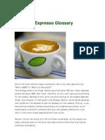 Espresso Glossary