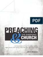 Preaching and the Emerging Church eBook PDF 5-6-10