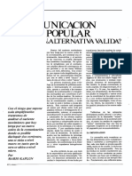 La comunicación popular ¿alternativa valida?