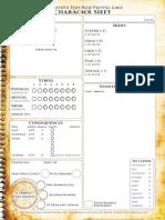 Dresden Files RPG Character Sheets w BG