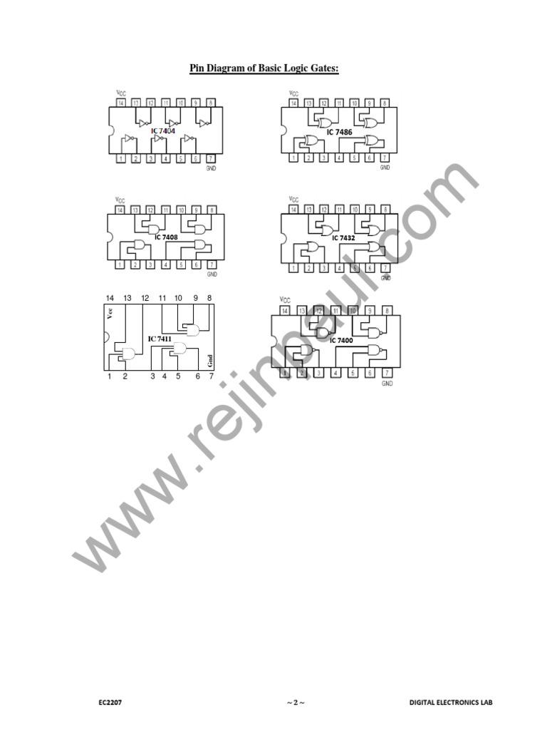 Digital Electronics Lab Manual   Digital Electronics   Electronic Circuits