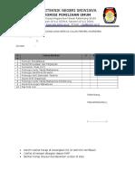 Ceklist Daftar Kelengkapan Berkas Calon Presma Wapresma