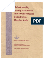 Mainstreaming Quality Assurance in the Public Health Department, Mumbai, India