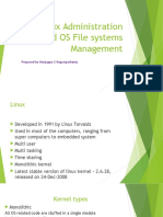 Linux Administration and OS File Systems Management
