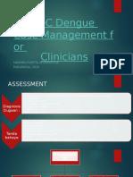 CDC Dengue Case Management for Clinicians (power point)