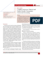 Conflicts between Clinical and Public Health Viewpoints