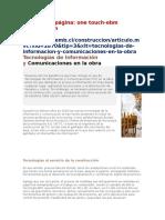 Tecnologías de Información y Comunicaciones en La Obra