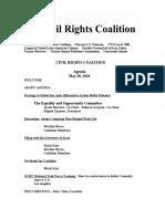 Civil Rights Agenda May 20, 2010