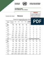 Rapport des investissements de la CNUCED 2016 pour le Maroc