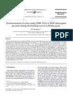 Synchronization of Estrus Using CIDR, FGA or MAP Intravaginal