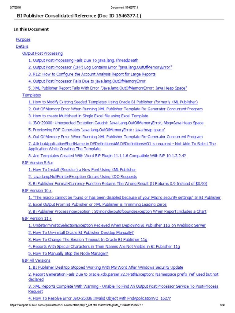 Oracle bi publisher xslt java programming language baditri Images