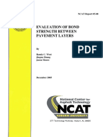 Evaluation of Bond Strength Between Pavement Layers
