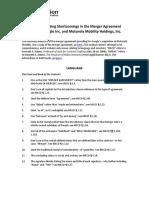 Analysis of Google Motorola Mobility Merger Ag