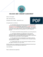 nutella  release and consent agreement