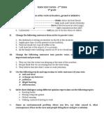 Term Test Paper