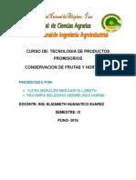 Conservacion y Procesamiento de Frutas y Hortalizas Andinas No Explotados