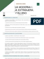 Plan estudios italiano