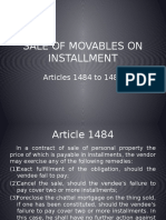 Sale of Movables on Installment