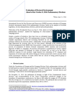 ISFED Pre-Election Assessment June 21, 2016