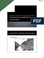 Construction Methods of Metro Lines