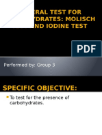 Molisch and Iodine Test