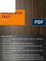 Mucic Acid Test