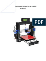 Acrylic Geeetech I3 Pro 3D Printer Building Instruction