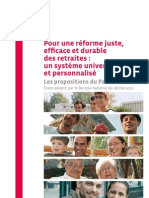 Le contre-projet du PS sur les retraites