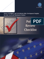 Policy Review Checklist