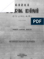 Vahit Lütfi Salcı, Gizli Türk Dini Oyunları