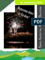 Animations 2016 office de tourisme de St André les Alpes
