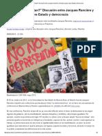 _¿No Nos Representan__ Discusión Entre Jacques Rancière y Ernesto Laclau Sobre Estado y Democracia