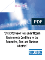 Cyclic Corrosion Tests Under Modern Environmental Conditions for the Automotive- Steel- And Aluminum Industries