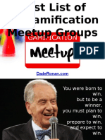 Huge List of 15 Gamification Meetup Groups