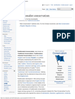 Traditionalist Conservatism - Wikipedia, The Free Encyclopedia
