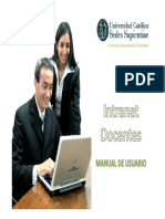 Manual Intranet Docentes Ucss