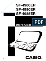 Manual Da Agenda Casio SF-4900ER